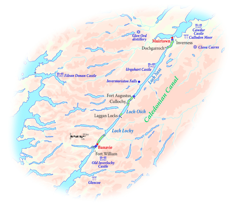 Map for The Heart of the Scottish Highlands (Spirit of Scotland)