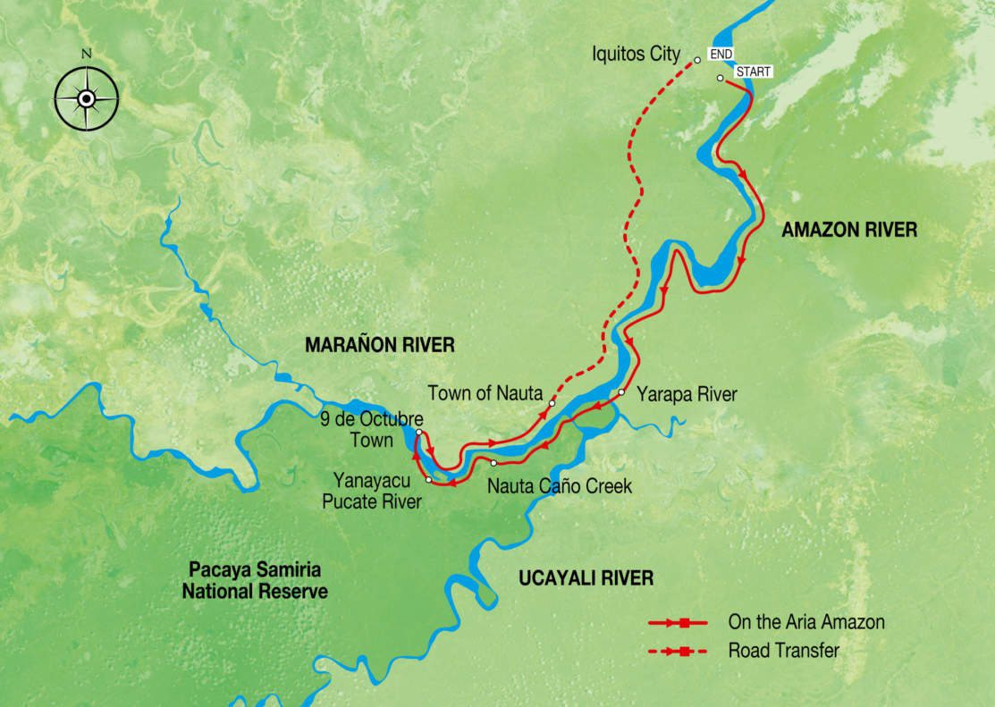 Map for Aria Amazon Discovery Cruise