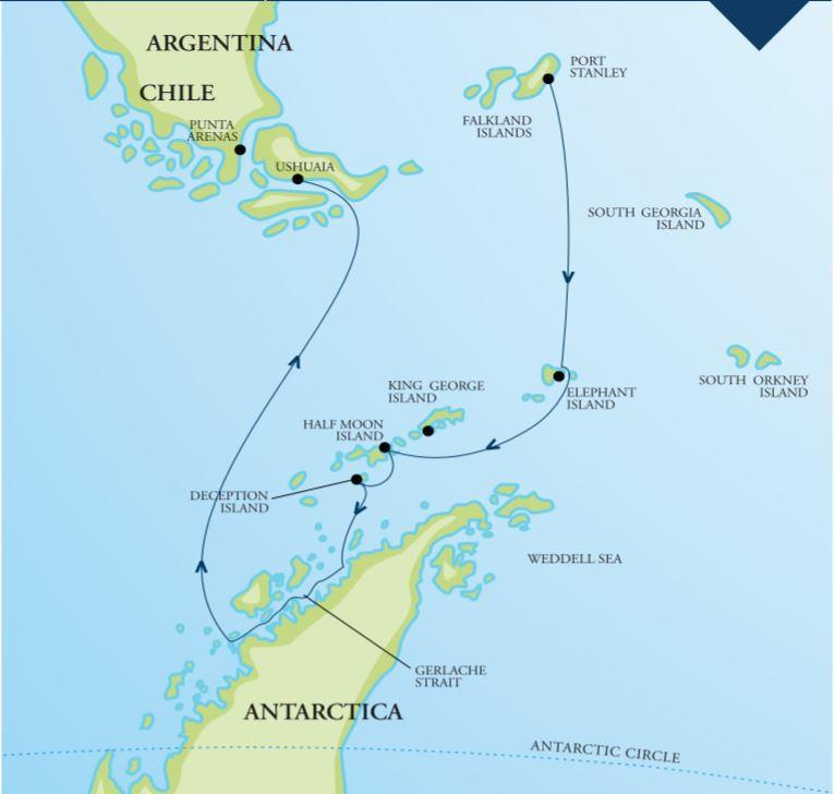 Map for Marine Mammals of Antarctica (RCGS Resolute)