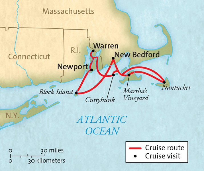 Map for Islands of New England 2019 (Grande Caribe)