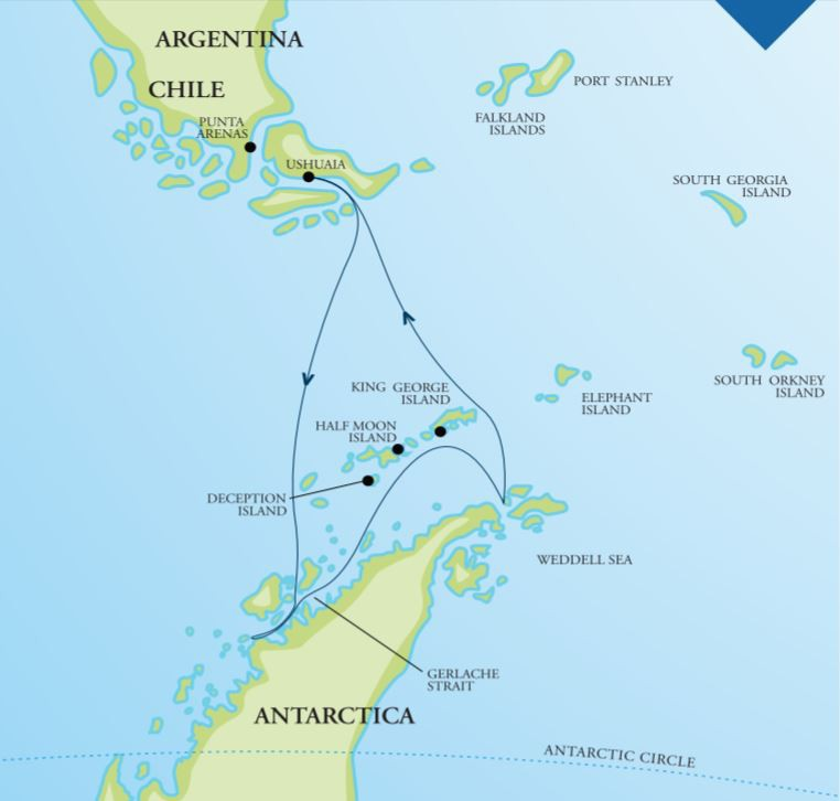 Map for Marine Mammals of Antarctica