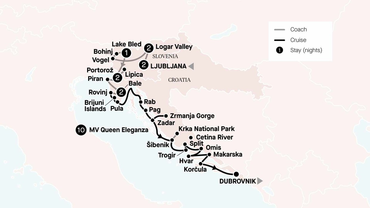 Map for Croatia In Depth With Jewels Of Northern Croatia & Slovenia