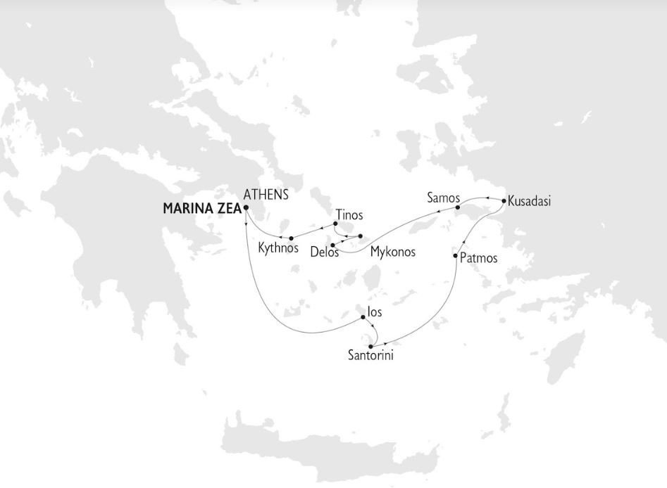 Map for Aegean Odyssey (Panorama)