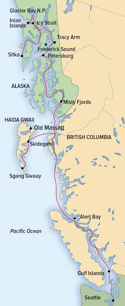 Map for Alaska: A Remarkable Journey (NG SeaBird & SeaLion)