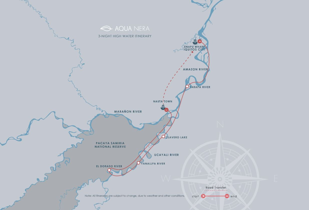 Map for Amazon Discovery Cruise (Aqua Nera)