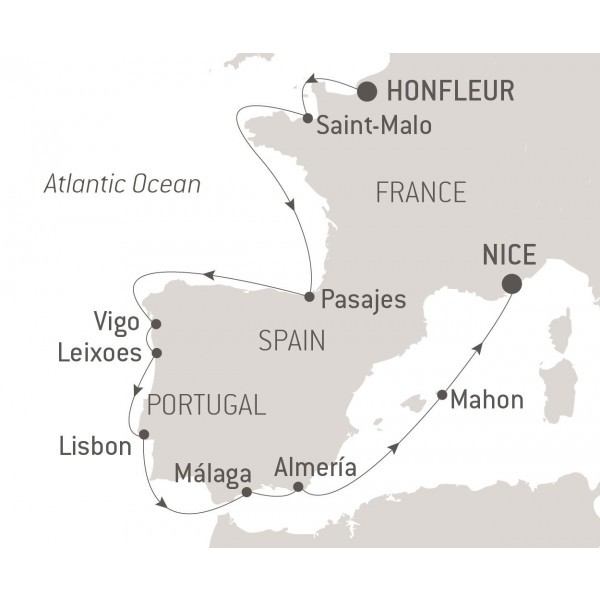 Map for Atlantic Shores and Andalousia (Le Bellot)