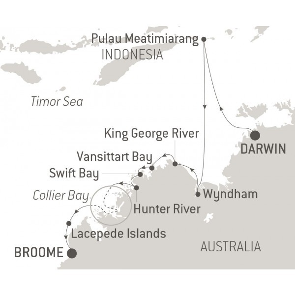 Map for Australia's Iconic Kimberley incl. East Timor (Le Bellot)
