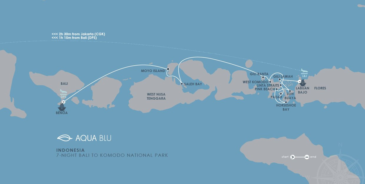 Map for Indonesia – Bali-Komodo National Park Cruise