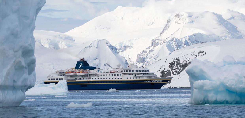 In the Wake of Scott Shackleton aboard Heritage Adventurer