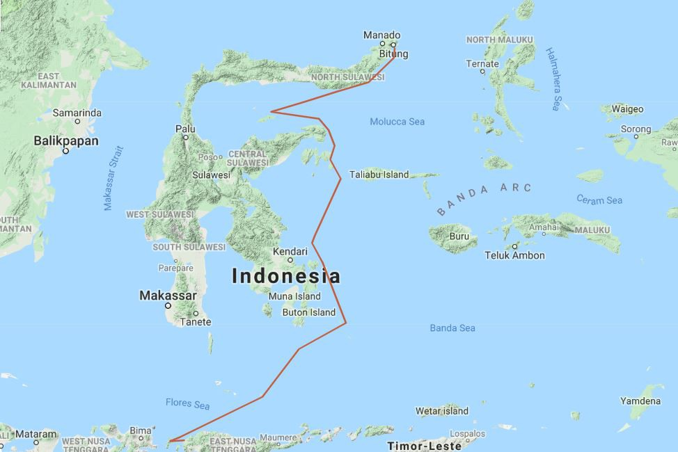 Map for Corals, Cultures & Dragons (Ombak Putih)