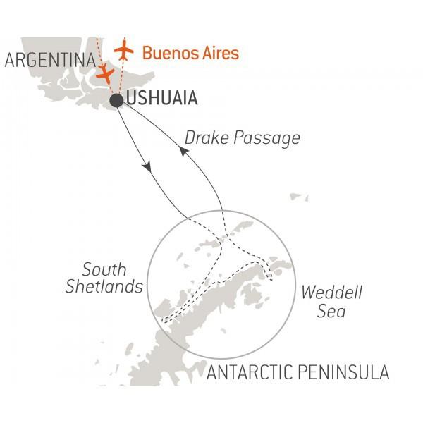 Map for Emblematic Antarctica (L'Austral)