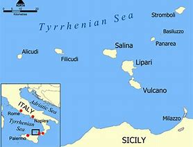 Map for Sicily and the Aeolian Islands