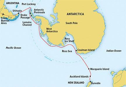 Map for Epic Antarctica (NG Endurance)