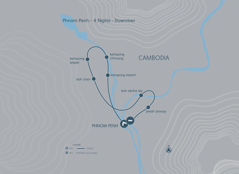 Map for Explorer Cruise - Phnom Penh