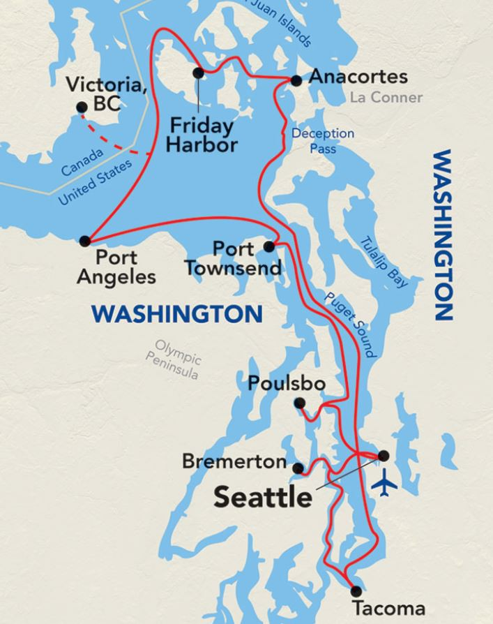 Map for Grand Puget Sound (American Constellation)
