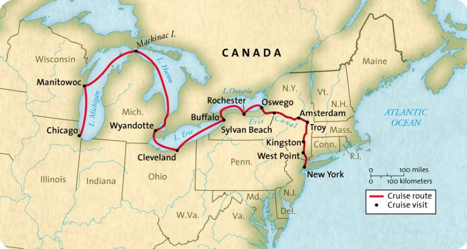 Map for Great American Waterways (Grande Caribe)