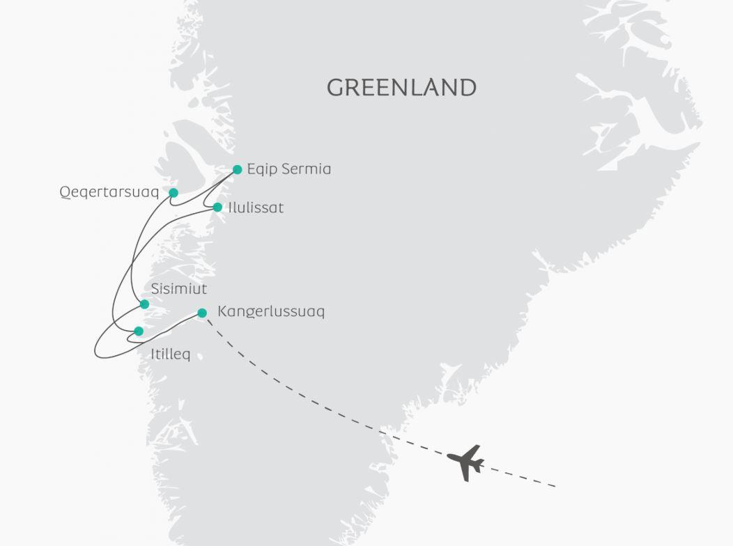 Map for Greenland Disko Bay (Ocean Atlantic)