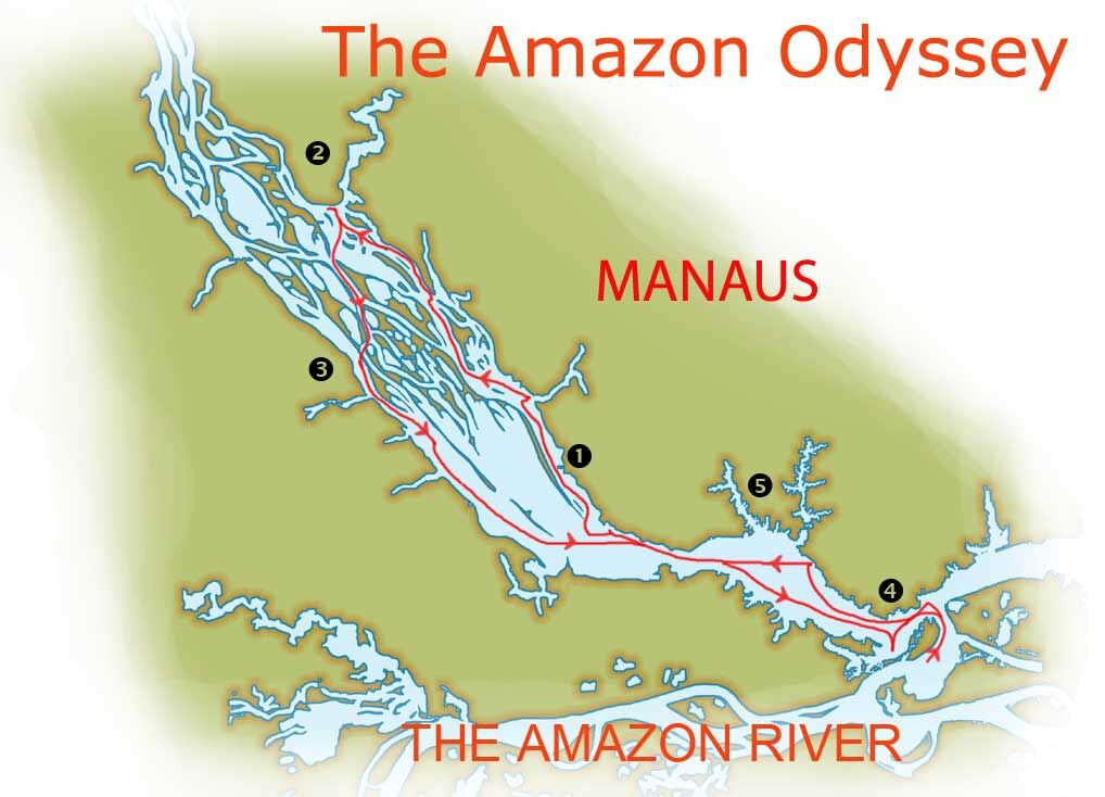 Map for Into the Wild Amazon