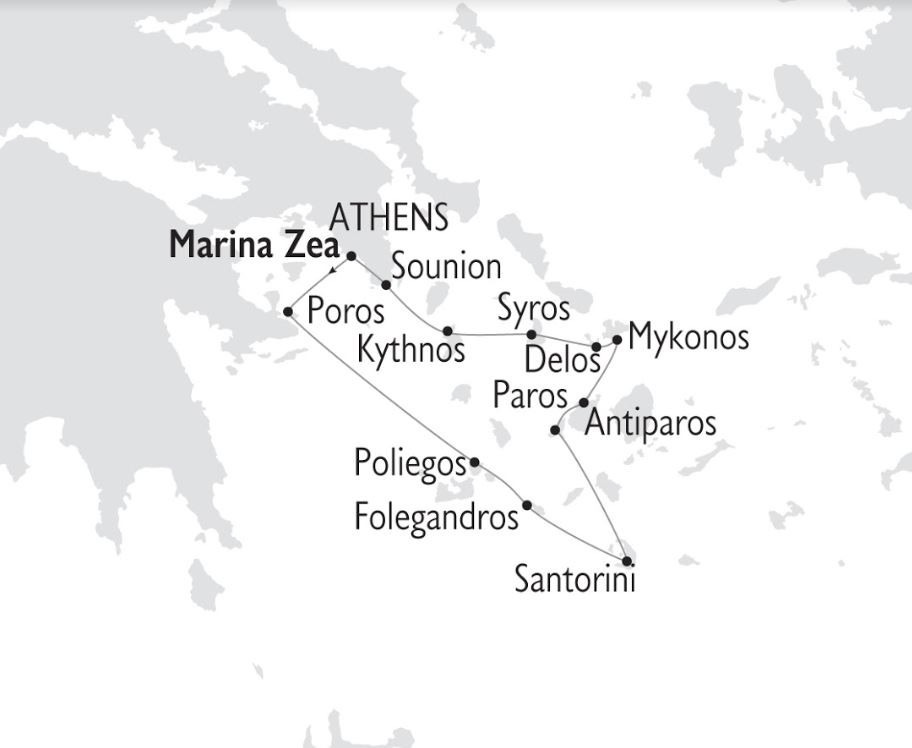 Map for Jewels of the Cyclades (Panorama)