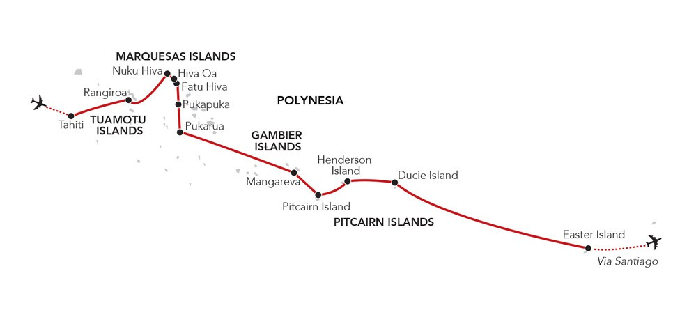 Map for Passage to Easter Island