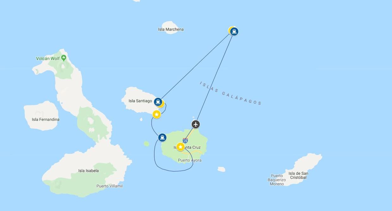 Map for Northern Galápagos (La Pinta)