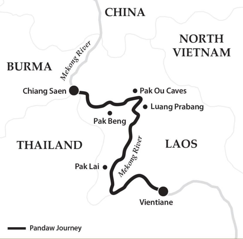 Map for The Laos Mekong (Upstream)
