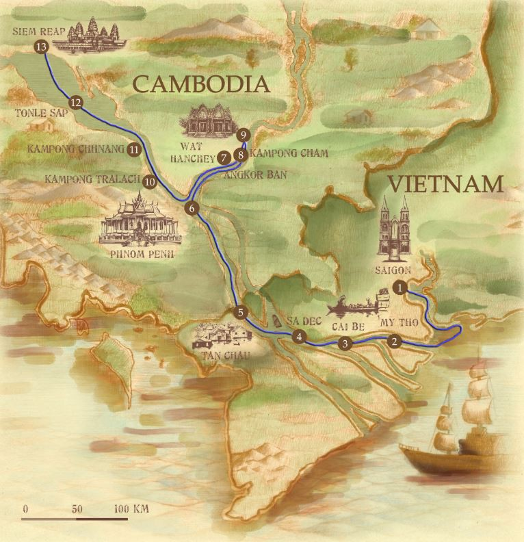 Map for Lost Civilisation (Downstream)