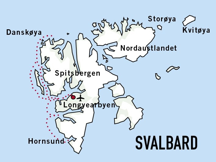 Map for Springtime in Svalbard (Quest)