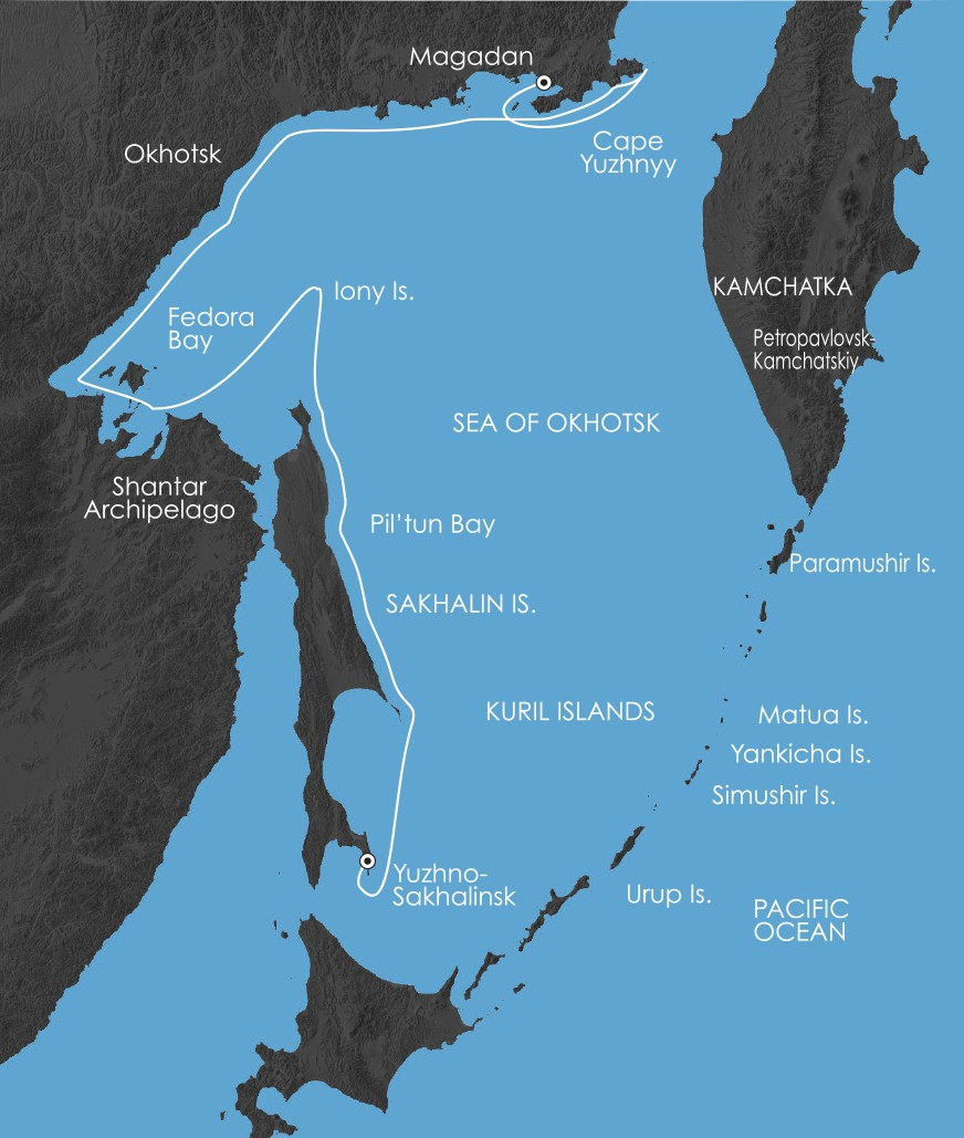 Map for Sea Of Okhotsk: Seals, Seabirds And A Legacy Of Sorrow