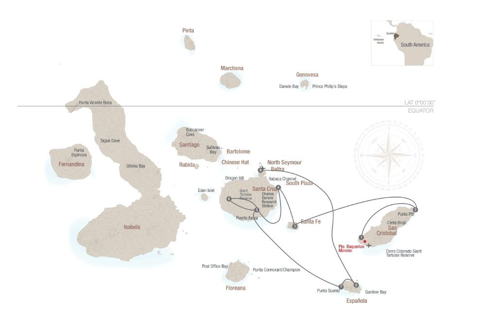 Map for Eastern Galápagos 2019 (Santa Cruz ll)