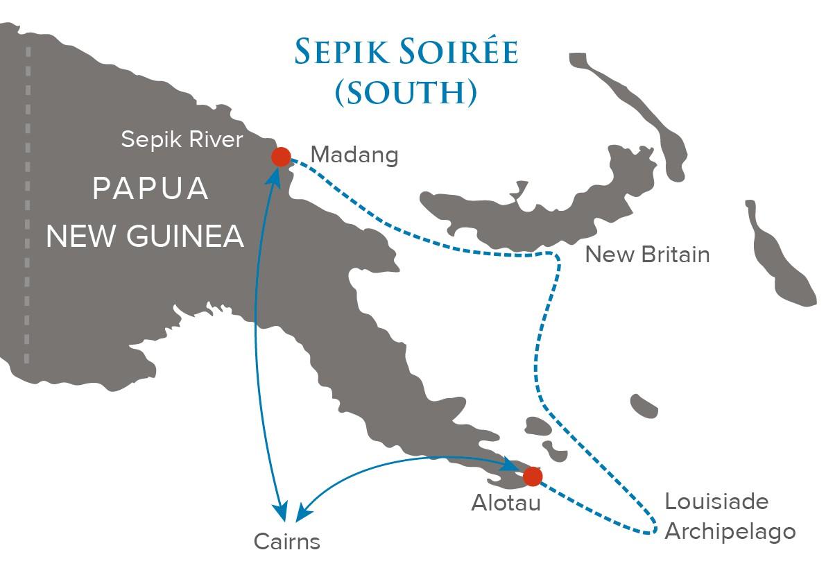 Map for Sepik Soiree (South)