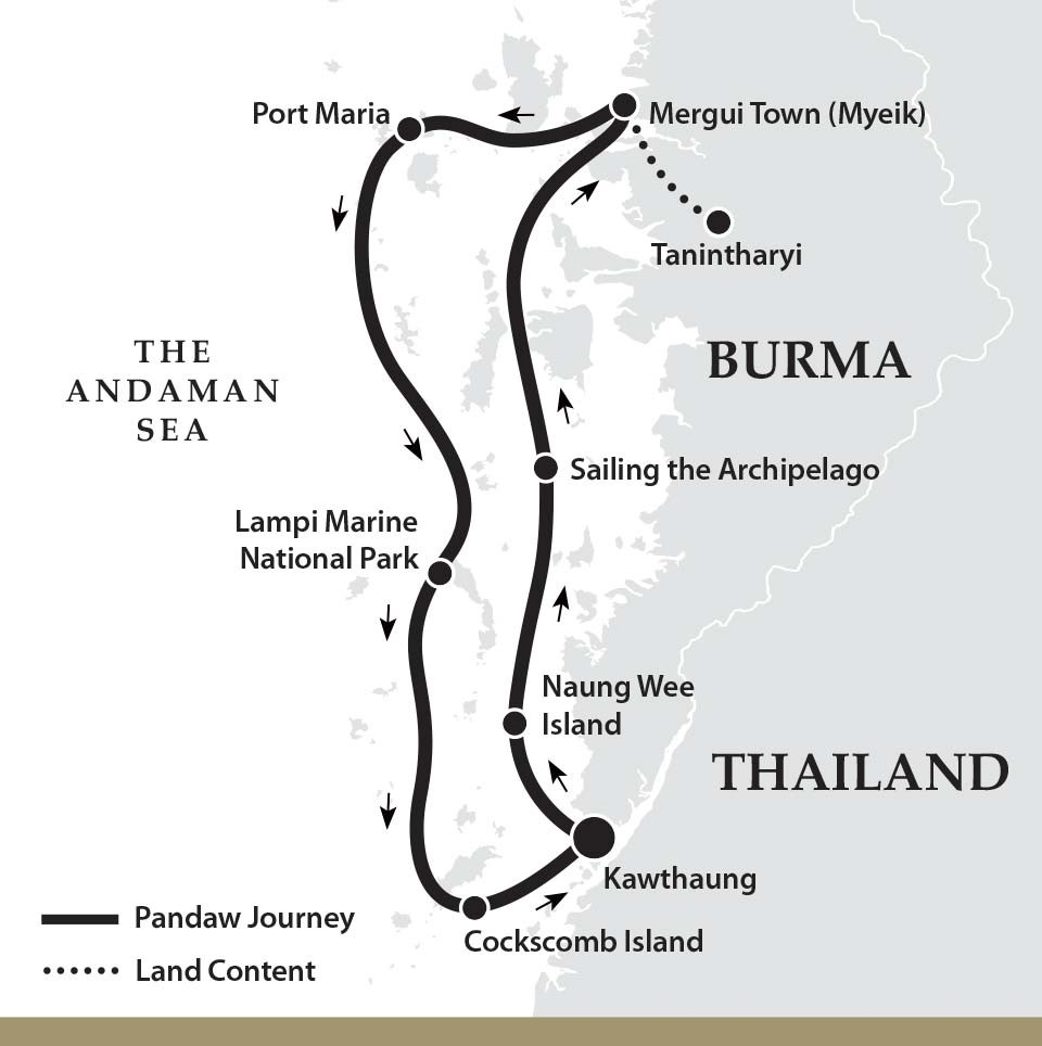 Map for The Mergui Archipelago