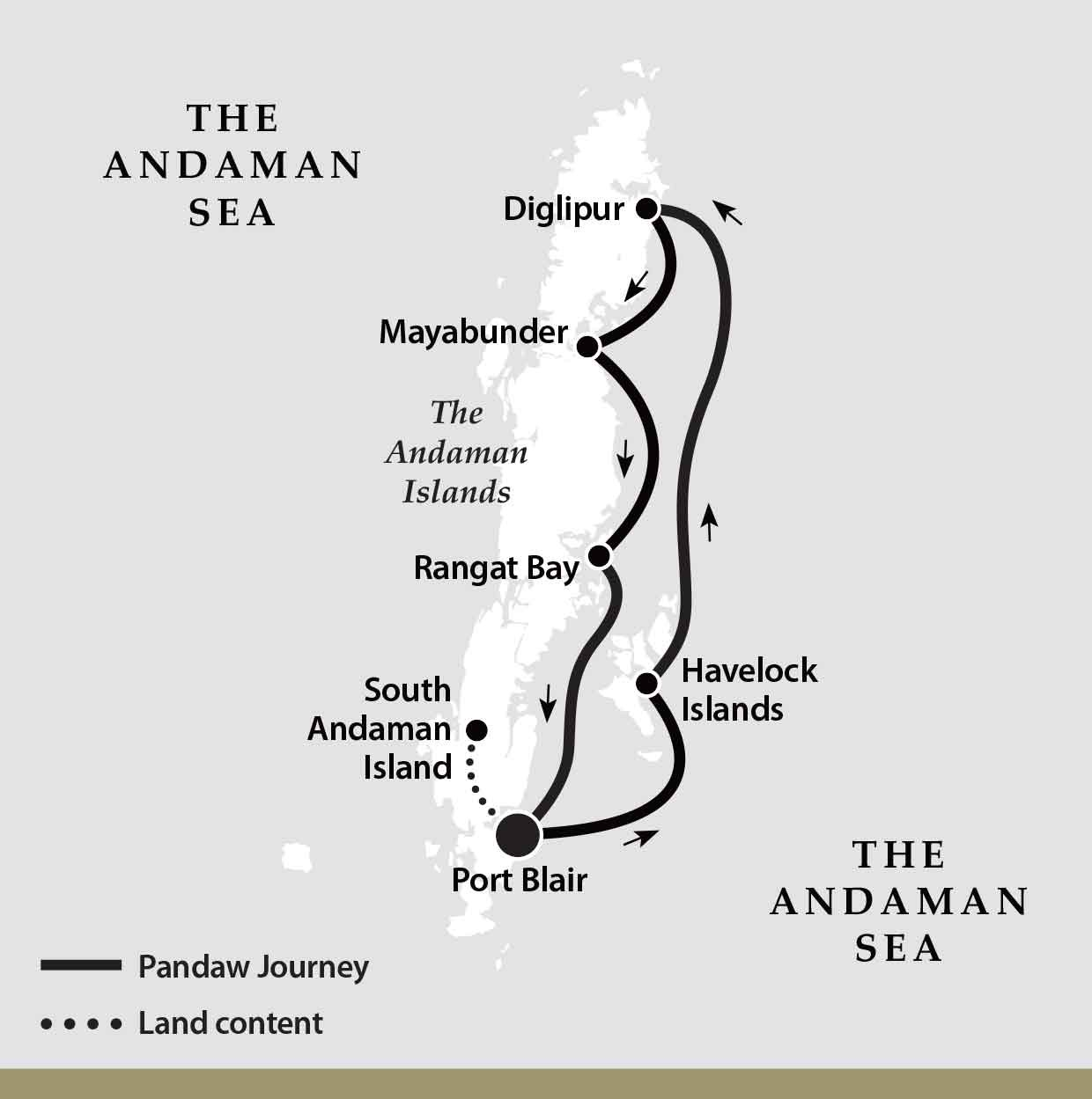 Map for The Andamans Cruise