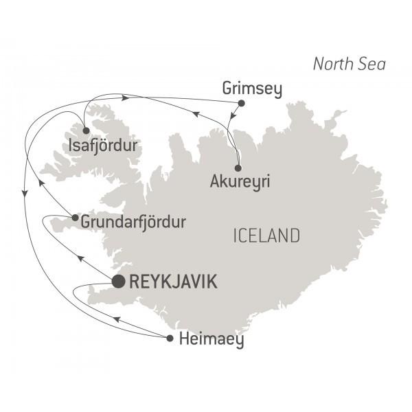 Map for Icelandic Mosaic (Le Surville)