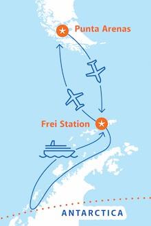 Map for Polar Circle Air-Cruise (Magellan Explorer)