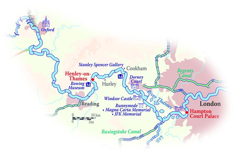 Map for England Cruise (Magna Carta)