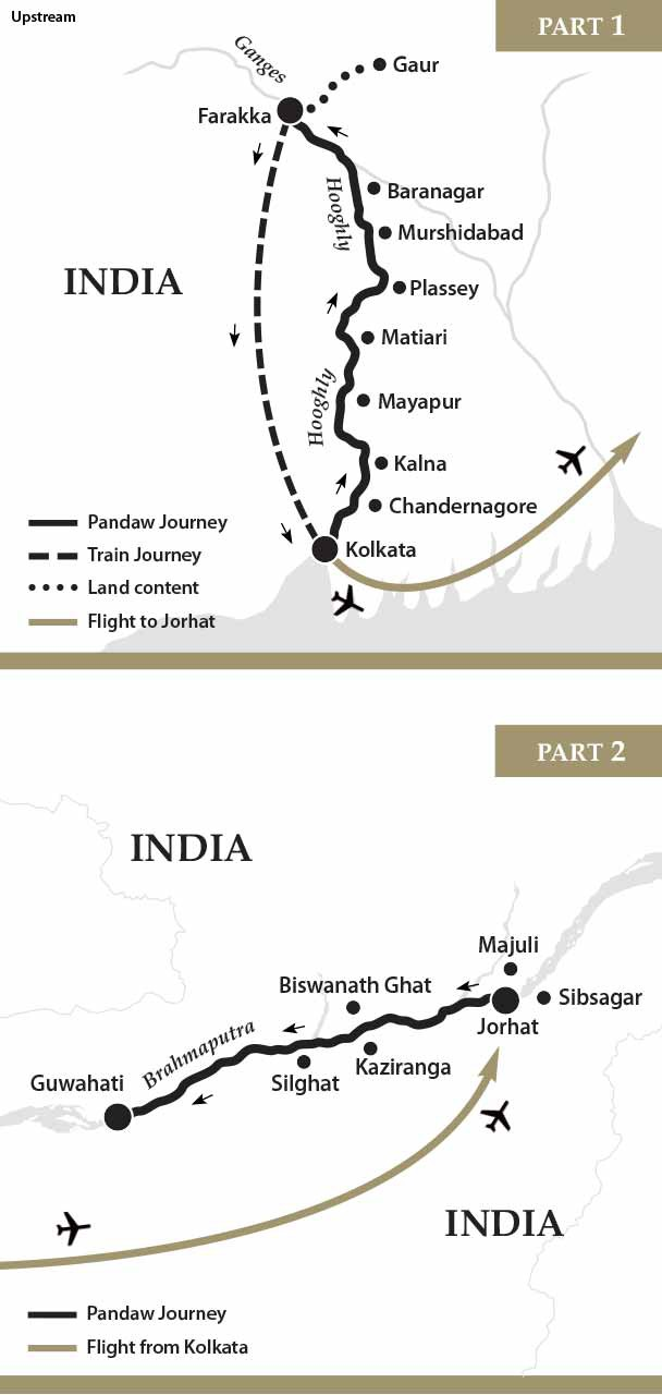 Map for Ganges & Brahmaputra Cruise