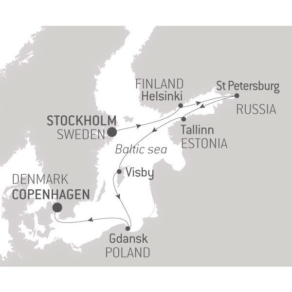 Map for Historic Cities of the Baltic Sea - 11 Days