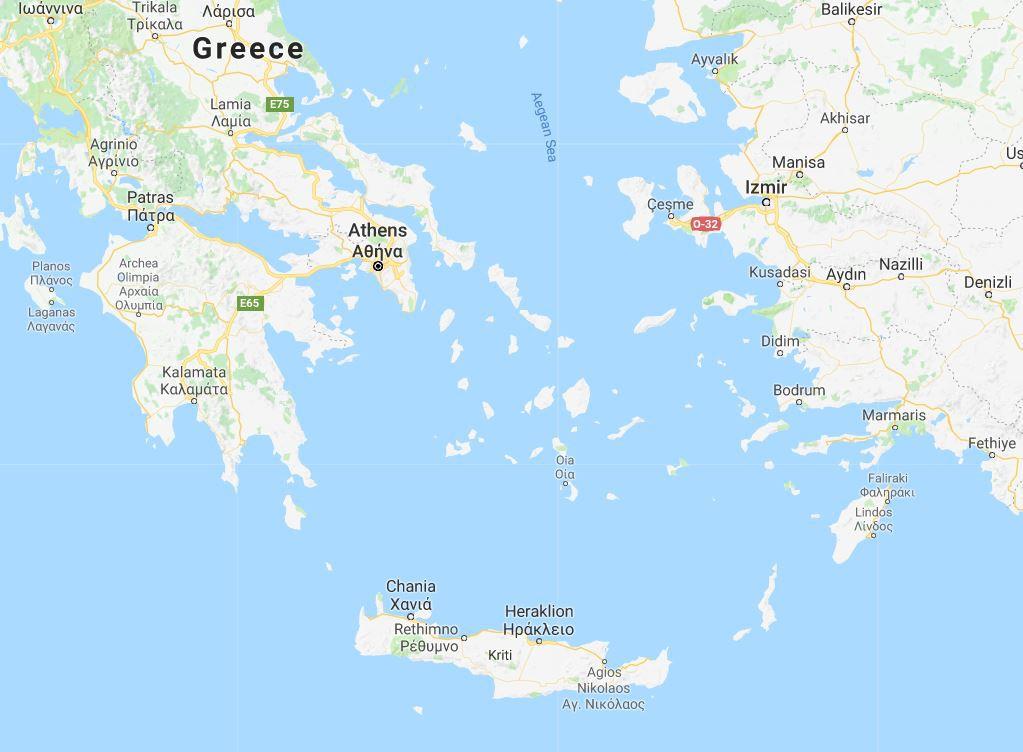 Map for Aegean Islands Mini Cruise 5 Days