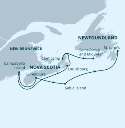 Map for Atlantic Canada Explorer