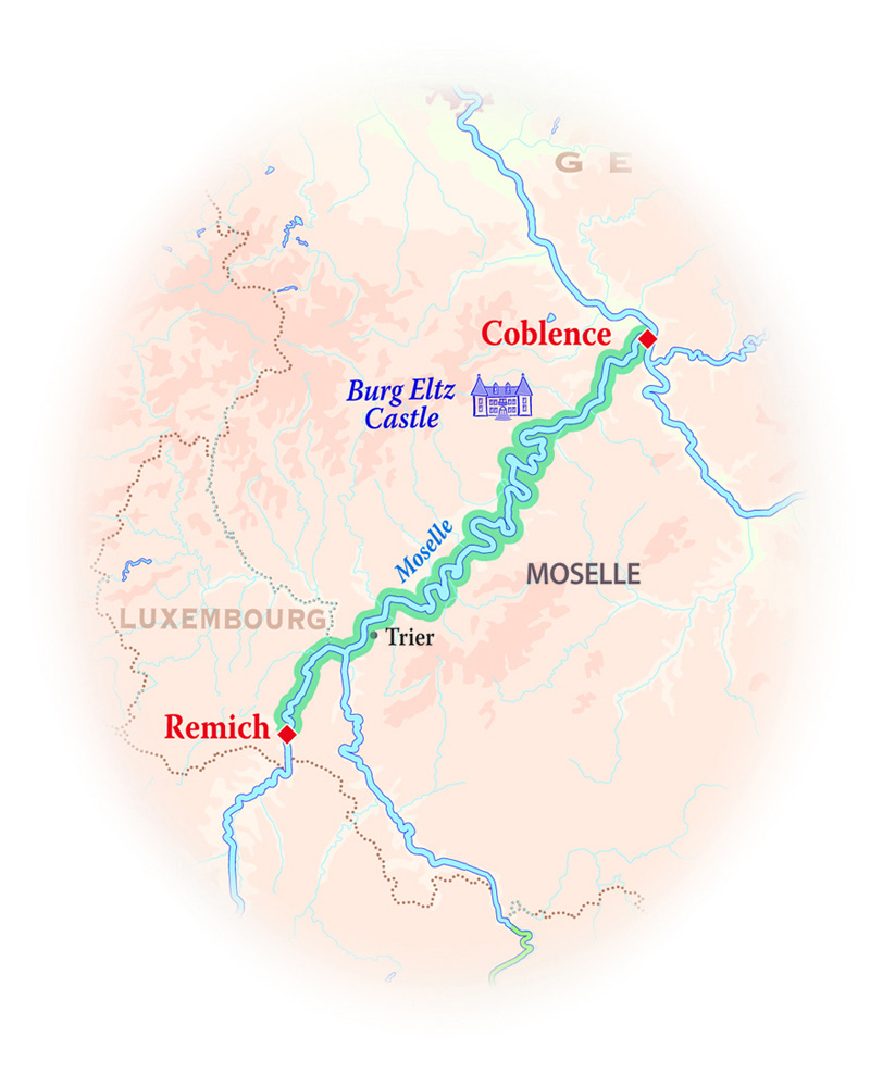 Map Of Germany And Luxembourg.Germany Luxembourg Cruise La Nouvelle Etoile Wild Earth Travel