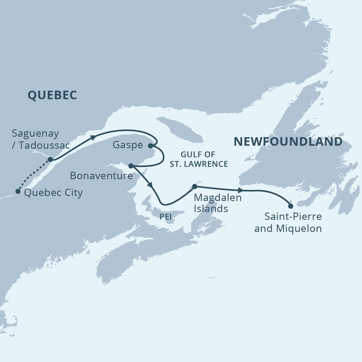 Map for Mighty Saint Lawrence