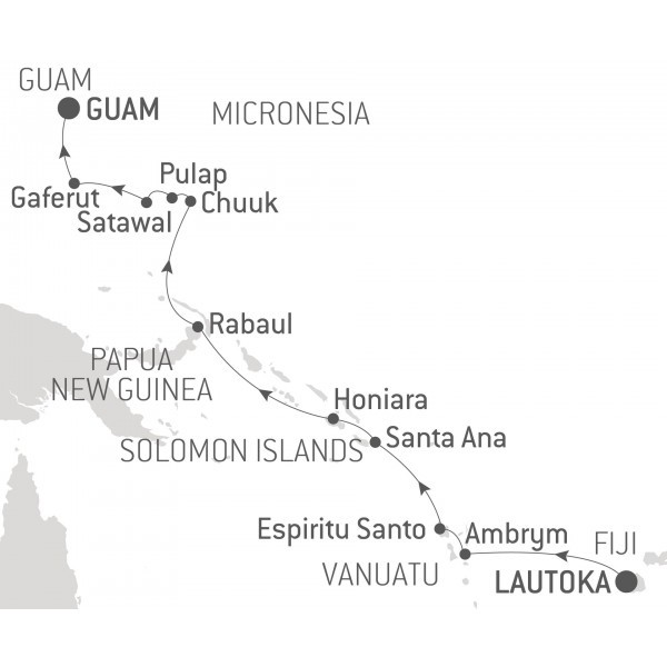 Map for From Fiji to Micronesia - with Nat Geo