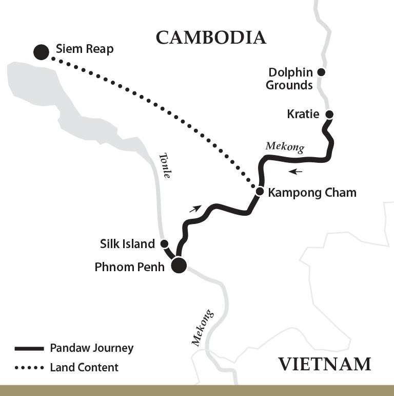 Map for Phnom Penh and Siem Reap (Upstream)