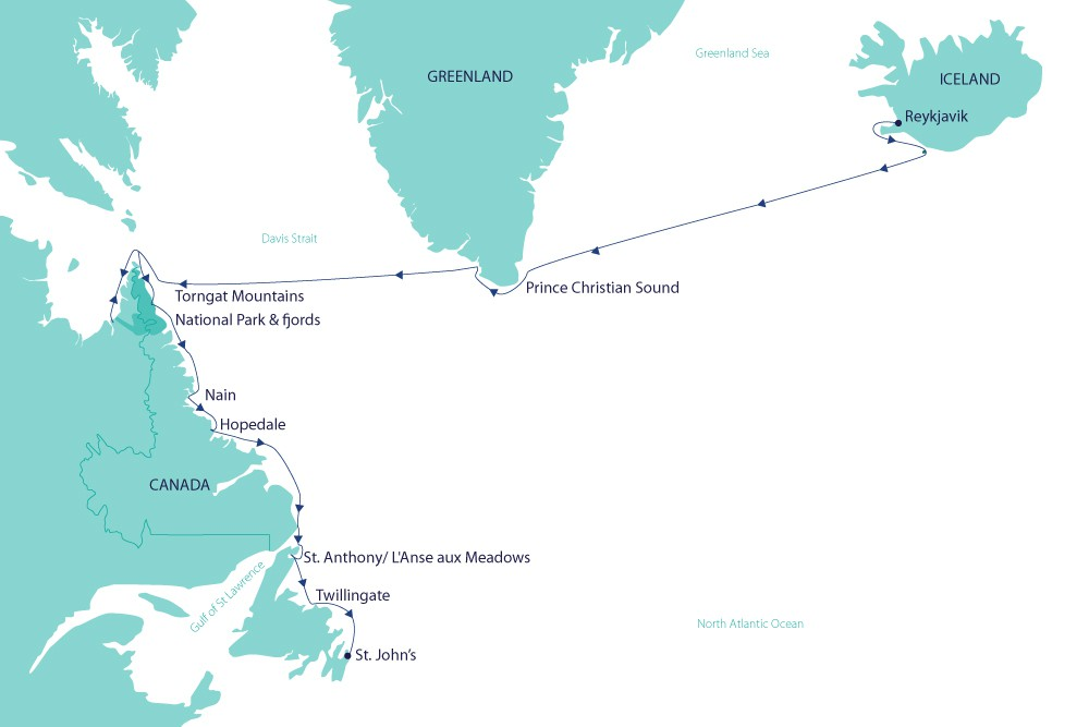 Map for Inuit Arctic and Beyond