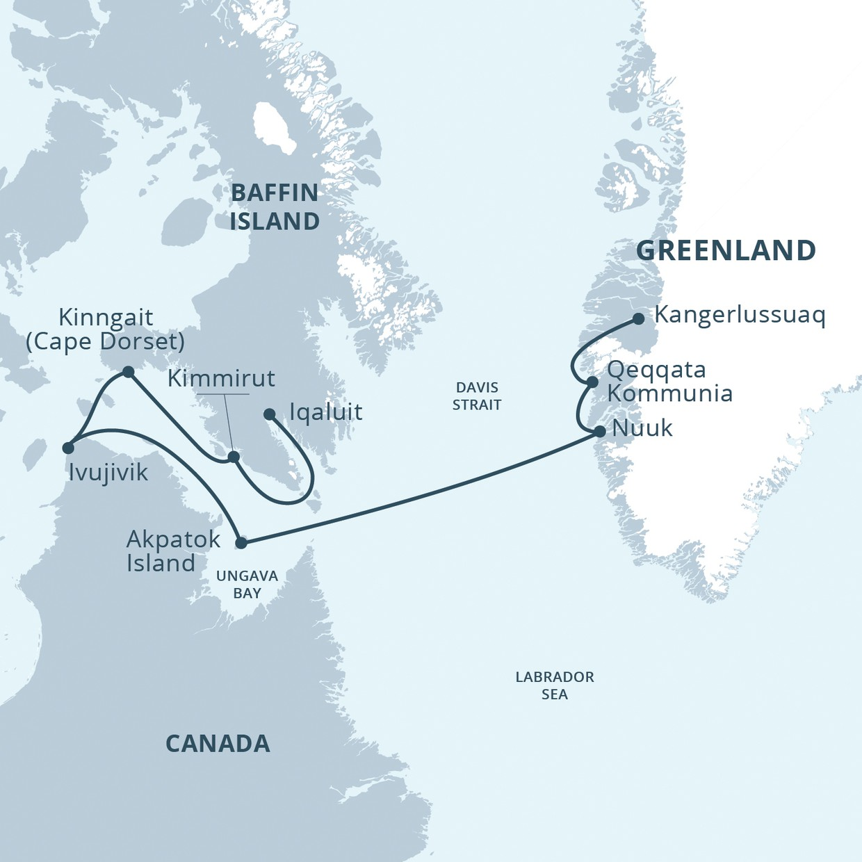 Map for Heart of the Arctic (Ocean Endeavour)