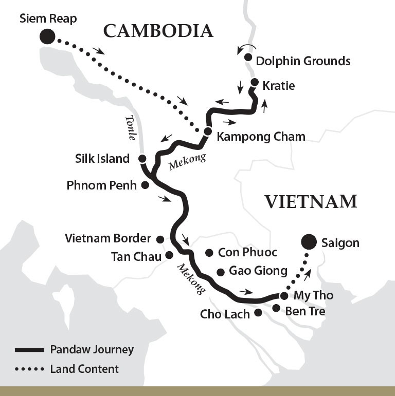 Map for Classic Mekong (Downstream)