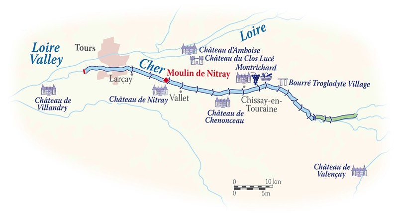 Map for Loire Valley Cruise (Nymphea)