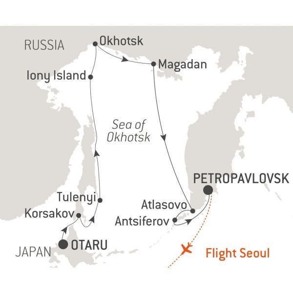 Map for The Sea of Okhotsk - with Nat Geo