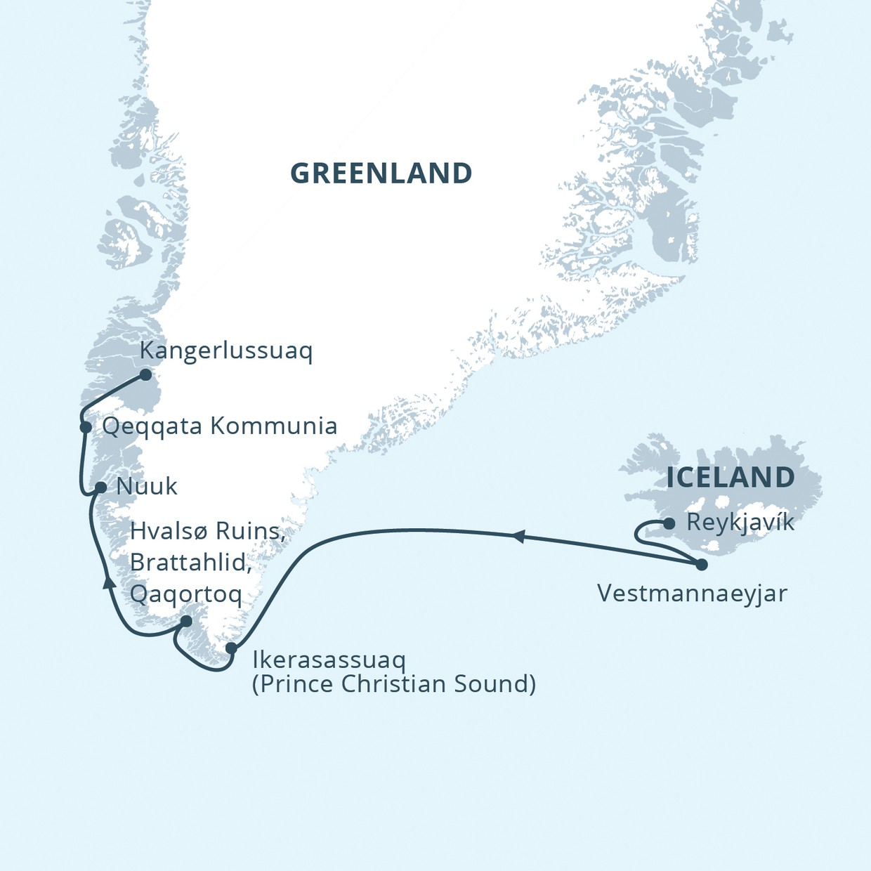 Map for In the Wake of the Vikings